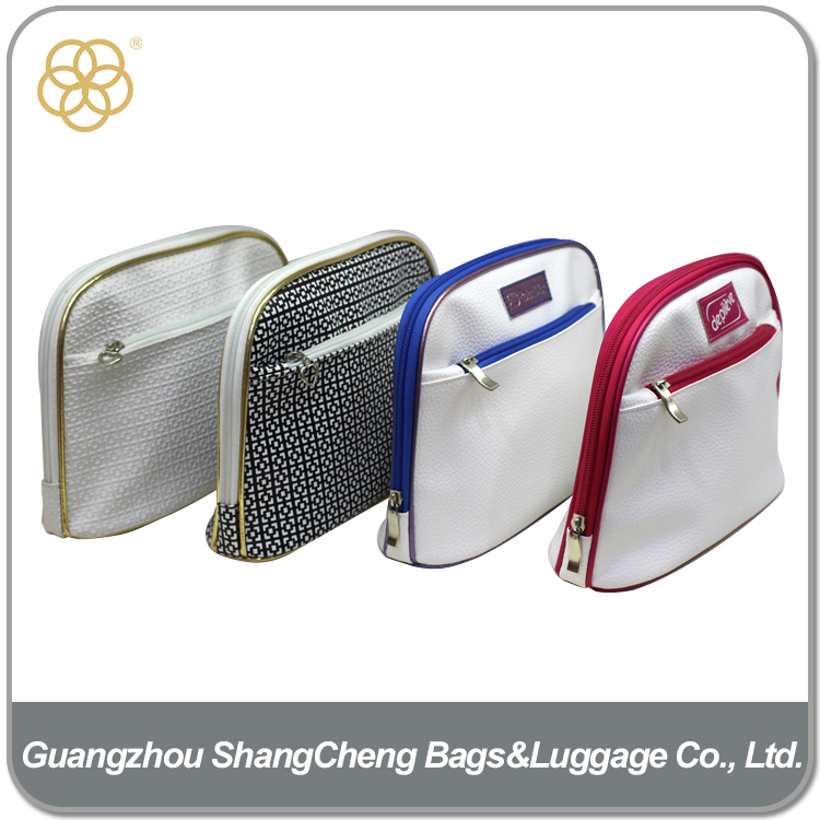 OEM leather shell clutch evening bag for cosmetic
