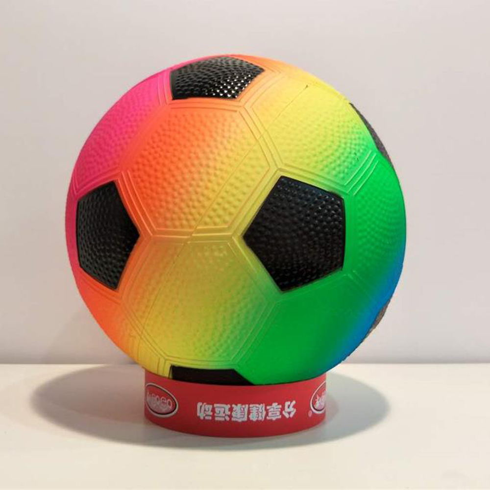 Inflatable Eco-friendly PVC material 8.5inch Rainbow Soccer ball