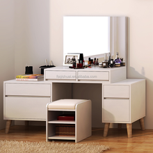 Wooden dressing table with mirror and stool/dressing table with drawers/mirror dressing table singapore