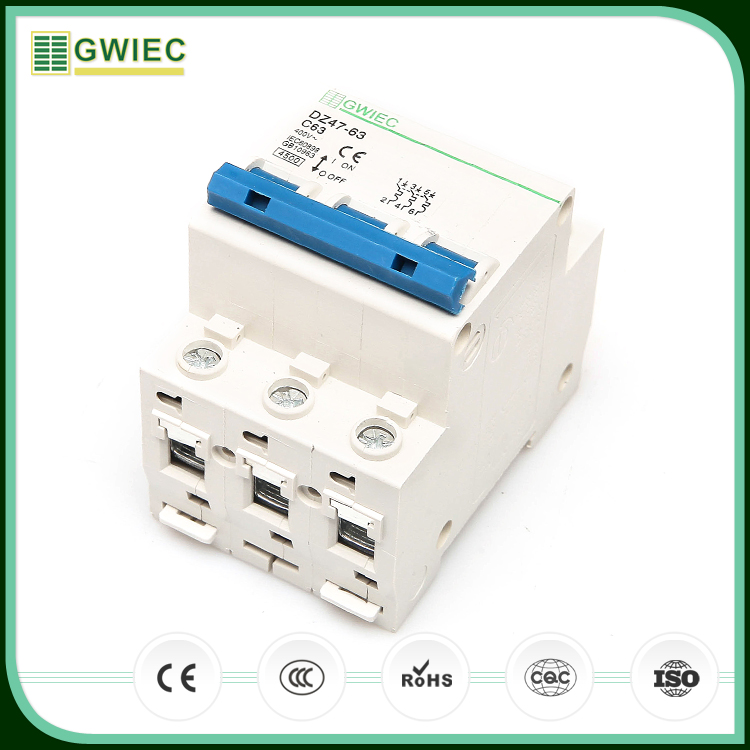 GWIEC Alibaba Best Sellers 6KA Overload Protection 4 Amp Circuit Breaker MCB DZ47 C63