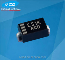 ES1A ES1B ES1D ES1G ES1J ES1K ES1M surface mount super fast rectifier diode with SMA package