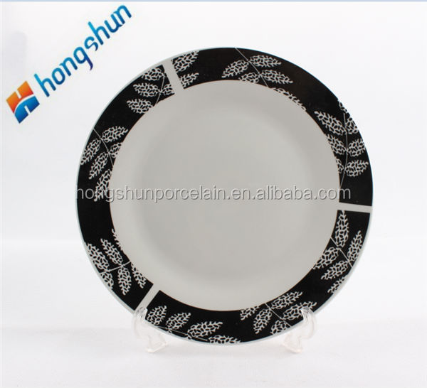 heated dinner plate/ceramic dishes/china plates
