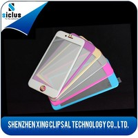 2015 new product for iphone 6 anti-scratch anti-fingerprint color 3d tempered glass screen protector/film/guard/cover/foils
