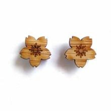 smart stud earrings, bamboo wood laser cut earrings, ladies earrings designs pictures