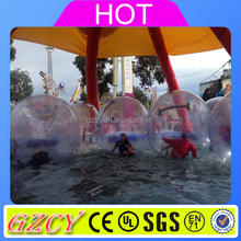 Hot Summer amusement part sea water park aqua zorbing ball for sale
