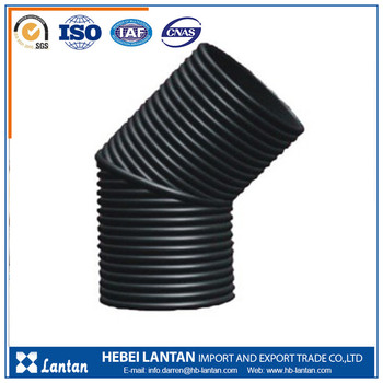 hdpe corrugated pipe and fittings for irrigation and drainage