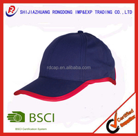 China supplier manufacturer micro fibre 6 panel all bordered simple ladies hat baseball cap for sale full lining