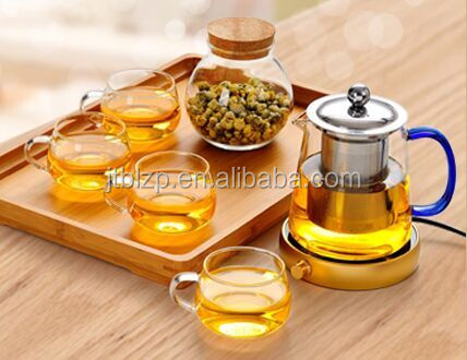 Double wheat beer handblown, high borosilicate double wall glass cup, Tea Infuser Cup With Handle And Lid