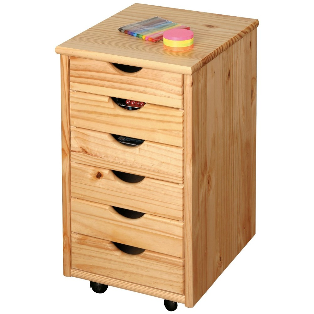 movable cabinets 6 layers wooden drawers