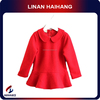 China supplier Cute long sleeve girl wool dress