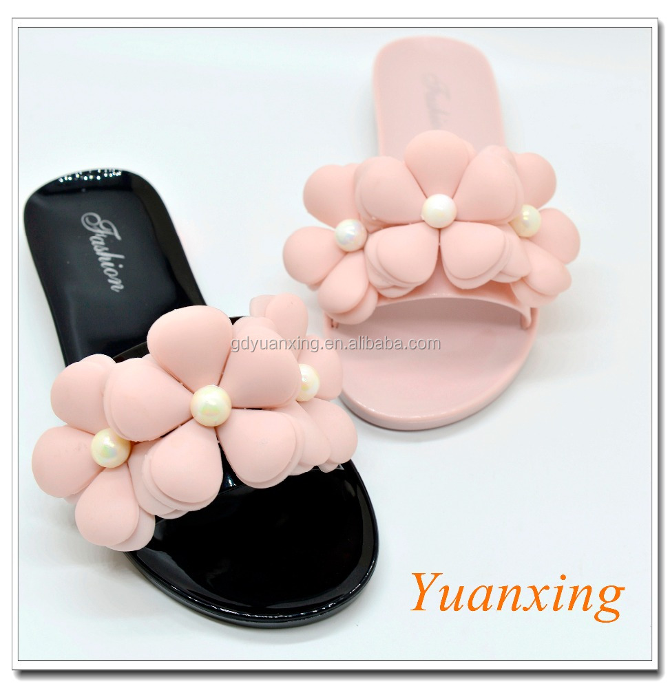 Pearl Flower <strong>Slippers</strong> Ladies Outdoor <strong>Slipper</strong> Ladies Slide <strong>Slipper</strong>