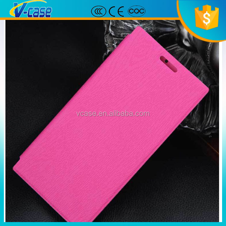 Ultra thin touch feeling flip leather phone cover case for lenovo s920