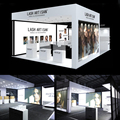 Detian Offer aluminium alloy 20 by 30 exhibition booth with fashion 3D designing