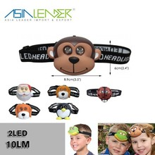 For Emergency, Camping, Hiking, Outdoor Living, 2 LED Light / Flash 3*AAA Battery 10LM 2 LED Animal Headlamp