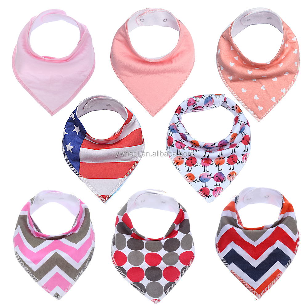 Soft Cotton Bib With Snaps for Feeding Unisex Baby Natural Cotton Unisex Cute Baby Bandana Bibs