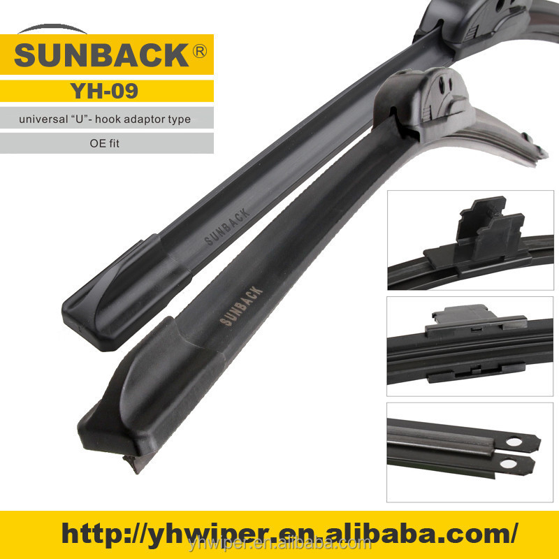Universal Flat/soft Car Windscreen Wiper Blade YH-WB09
