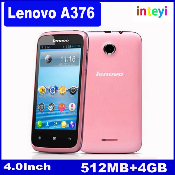 100% Original Lenovo A376 4.0 inch Dual Core 800*480 Dual SIM Android 4.0 Cheap Unlocked 512M RAM 4GB ROM Mobile Phone