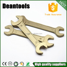 Aluminum copper tools double open end spanner socket torque non sparking wrench
