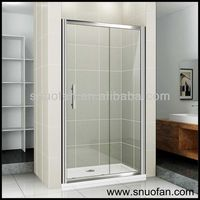 Snuofan frame shower bathroom screens for sales shower bathtun screen with 6mm tempered glass