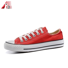 Classic fashion design cheap orange sneaker canvas Injection shoes for adult