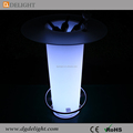 Wholesale Plastic Bar Furniture LED Glowing Bar Table with Ice Bucket