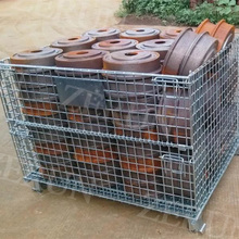 Heavy Duty Market Used Steel Mesh Pallet Storage Cage with Non-woven Fabrics