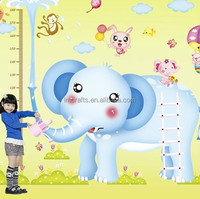 Big size promotion special design DIY kids favorite Elephant Growth Chart Height Measure Decoration room Wall Stickers XY1112