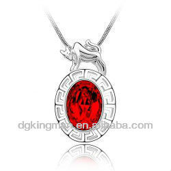 Charm Necklace Supplies, Hot Selling Jewelry, Shining Red Crystal