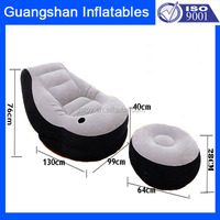 Custom Inflatable Living Room Chair Sofa Set For Home & Garden Furniture With Drink Hole
