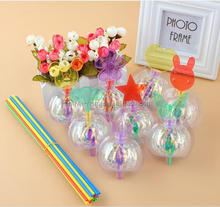 New design magic led swirl bubble flower with stick / glow sticks