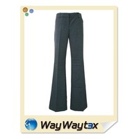 Classic style lady plaid check viscose fabric pants