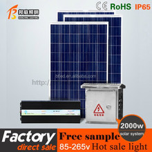 CE RoHS TUV residential easy install solar panel system off grid solar power system1500w for home use