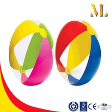 24'' beach ball 3colors PVC inflatable ball custom logo outdoor toys