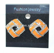 2013 Fashionable Earring with epoxy and stone