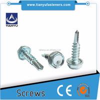 Stainless Steel hex washer head self drill metal screws