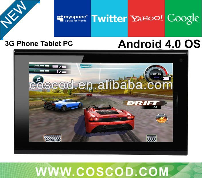 7inch Android 4.0 Capacitive Touch Screen 1GB/8GB Cheap Sim Card Tablet pc 2G Phone Function $96