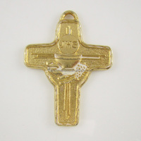 First communion pendant cross with chalice