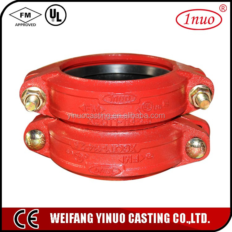 Construction use firefighting pipe fittings flexible joint coupling