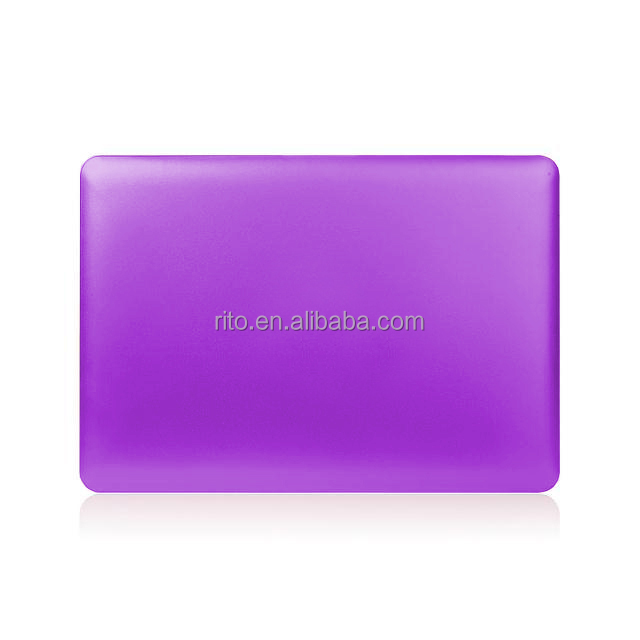 Laptop metallic purple Rubberized hard case for macbook pro 13 cover retina, non-toxic