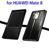 Flip Leather Window Case for HUAWEI Mate 8 with Sleep / Wake-up Function