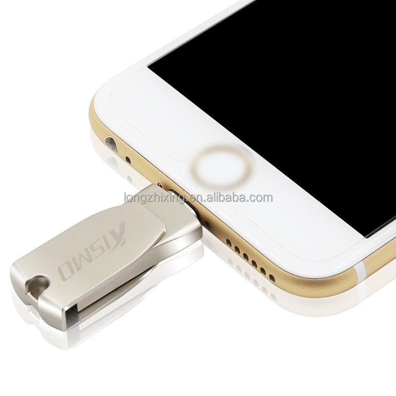 Wholesale Cellphone 3-in-1 USB iFlash Drive Mini Metal USB Stick for iPhone 7 6s IOS 9.2