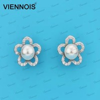 Hot Sale Women Jewelry 925 Silver Earrings With Pearl