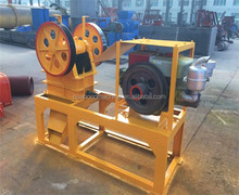 New technology diesel engine jaw crusher with low price crushing rubber/tires/car