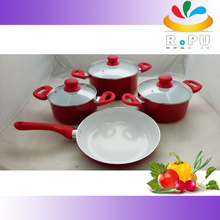 Factory directly sell cookware in uae/cookware oil free press aluminum cookware
