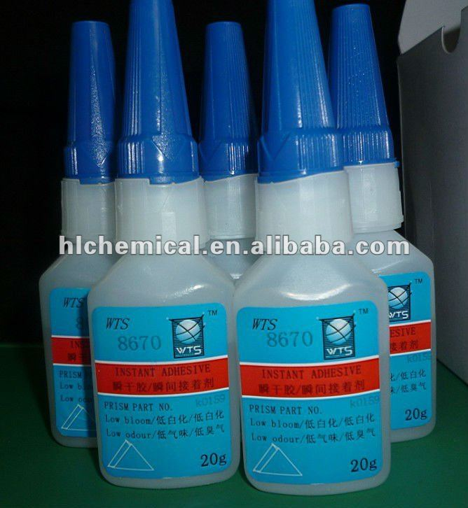 low odour cyanoacrylate instant dry glue for electronic component bonding