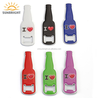 Promotion Customized Print Zinc Alloy Magnetic Beer Shape Bar Bottle Opener