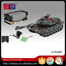 MEIJIN remote control tank 1:28 scale 8 ch America M1A2 rc tank camouflage color with light & music included battery