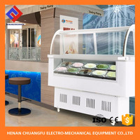 Toping Ice cream table top open display refrigerator