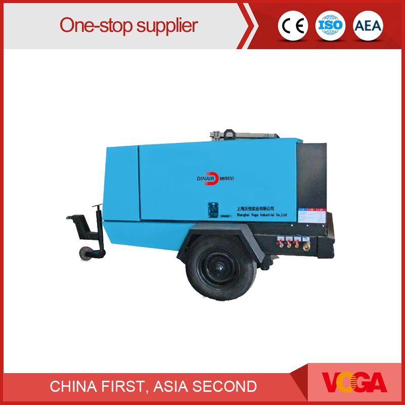 58 KW Dinair Screw Movable Type Portable Air Compressor