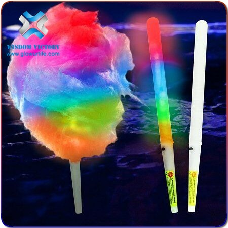SUNJET wholesale led party supply plastic led cotton candy stick custom led foam glow sticks